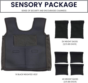 UrbanRed Weighted Vest for Kids with Sensory Issues | Compression Vest for Kids with Sensory Issues for Autism, ADD, ADHD, Sensory | Ages 5-9 (Medium)