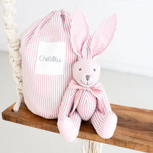 "Load image into Gallery viewer, 16"" Plush Rabbit Bunny Keepsake for Kids Pink Girls"