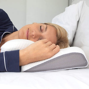 Cervical Memory Foam Pillow for Side, Back, Stomach Sleepers Grey Color