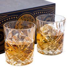 Load image into Gallery viewer, Diamond Cut Design Whiskey 2 Glass Set