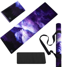 Load image into Gallery viewer, Yoga Mat Foldable Lightweight - Thin Light Non-Slip Travel Mat Dream Night
