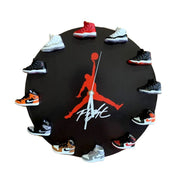 Air Jordan 3D Sneaker Clock with 1-12 Mini Sneakers