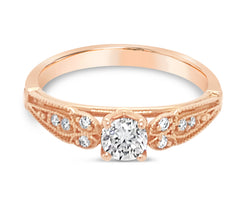18Ct Rose Gold Diamond Celia Ring