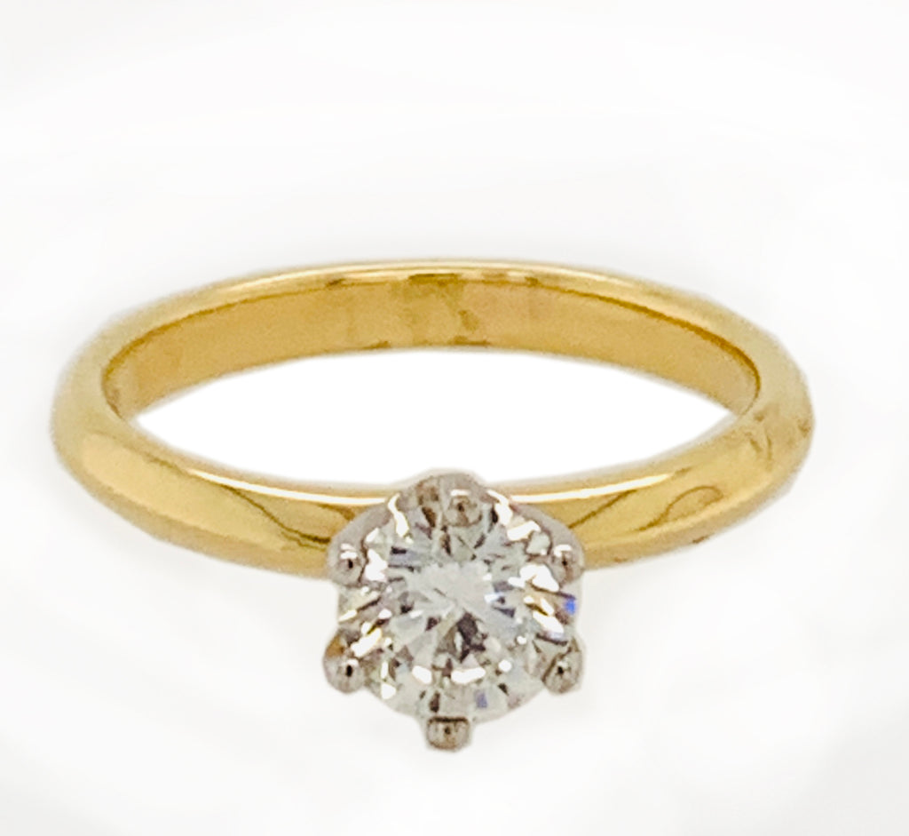 Solitaire Diamond Ring 0.56Ct