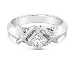 9Ct White Gold Princess Cut Diamond Amalia Ring