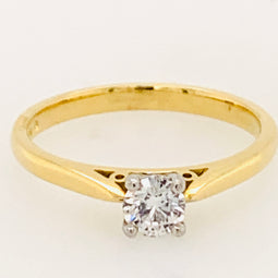 Round Diamond Solitaire Ring 0.30Ct