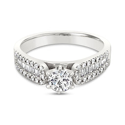 18Ct White Gold 0.52Ct Diamond Amadea Ring