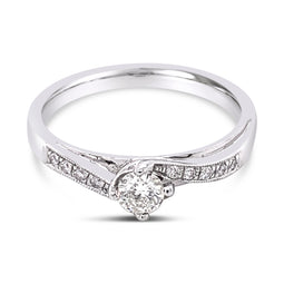 Diamond Ring White Gold 0.30Ct
