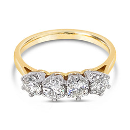 Diamond Ring Yellowe Gold 1.00Ct