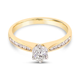 Diamond Ring Yellow Gold 0.50Ct