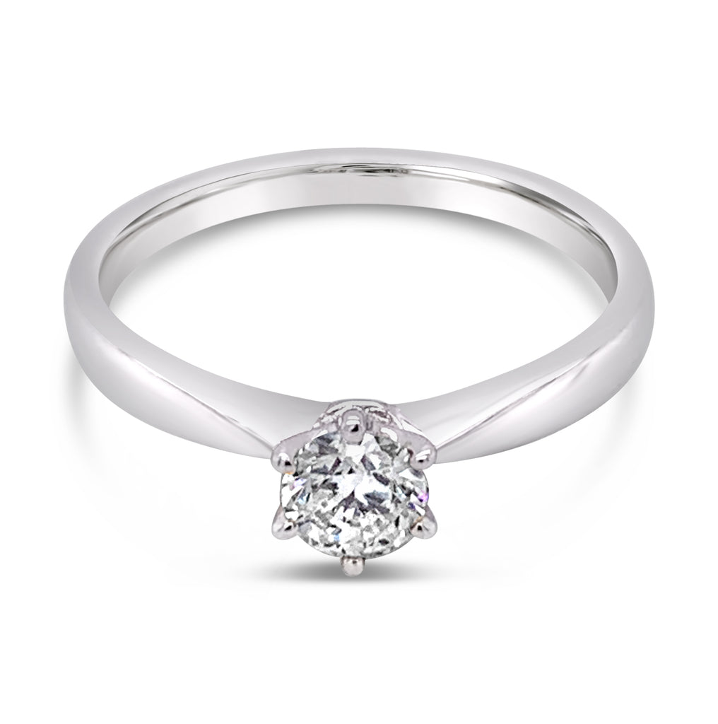 Diamond Solitaire Ring White Gold 0.40Ct