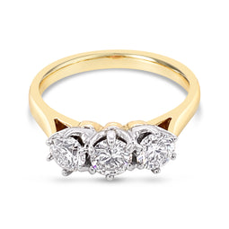 Diamond Trilogy Ring 1.00Ct