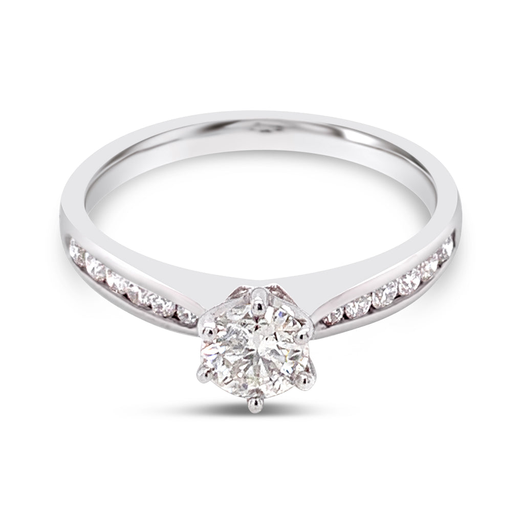 Diamond Ring 18Ct White Gold 0.43Ct