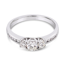 Diamond Ring 18Ct White Gold