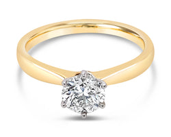Diamond Solitaire Ring Yellow Gold 0.77Ct