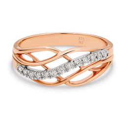 Diamond Rose Gold Dress Ring