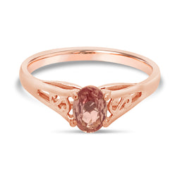 9Ct Rose Gold Pink Sapphire Paulette Ring