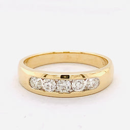 Diamond Anniversary Ring 9Ct Yellow Gold 0.50Ct Tdw