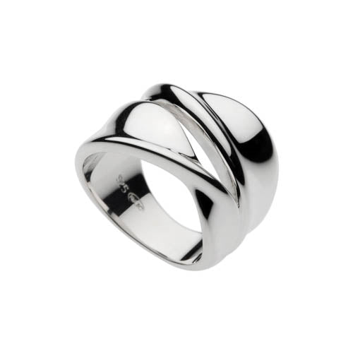 Najo Sterling Silver Double Twisted Ring