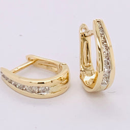 Diamond Huggies Earrings 9Ct Yellow Gold 0.25Ct