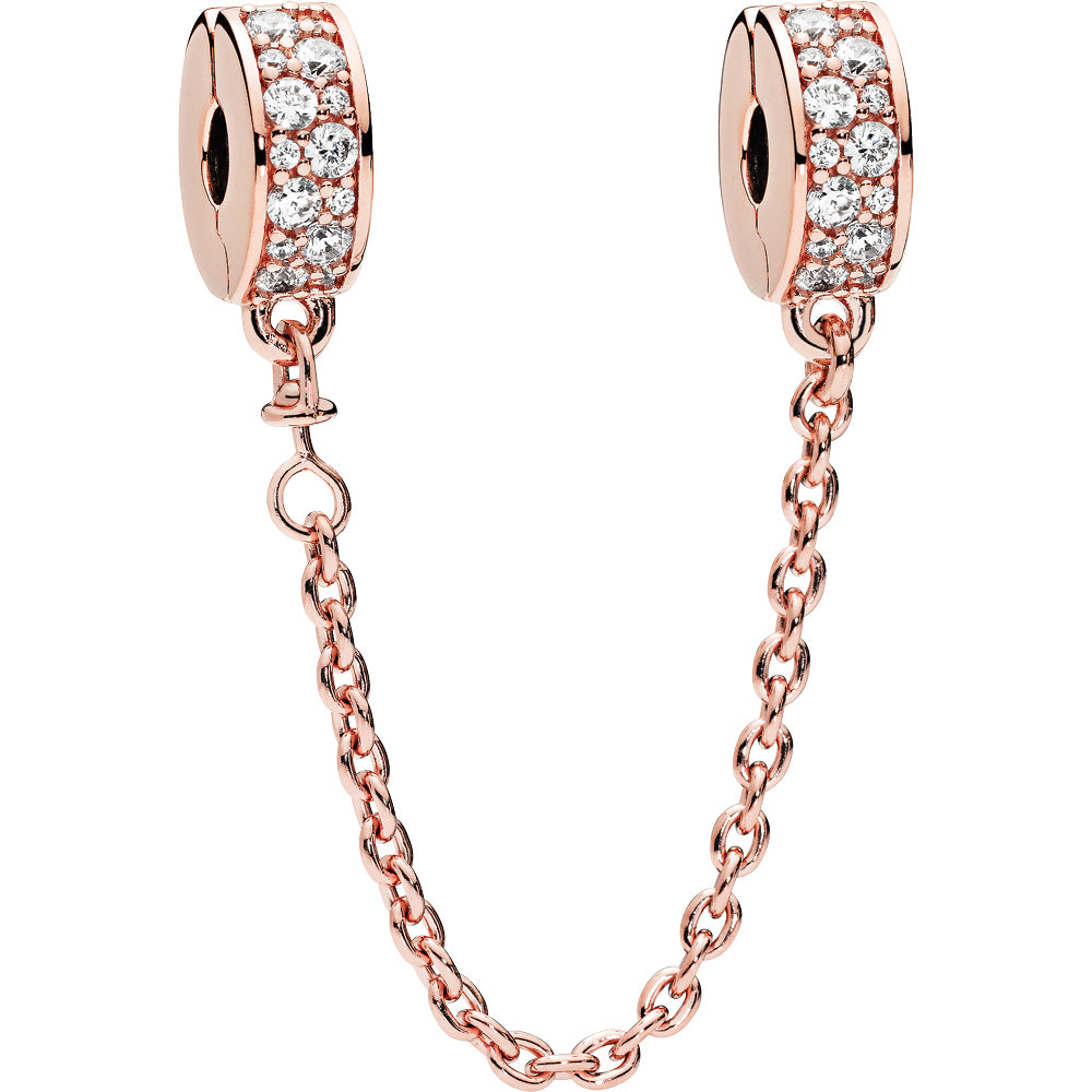 Pandora Rose Shining Elegance Safety Chain W Cz