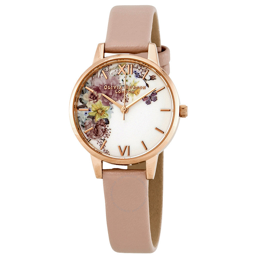 Rose Gold Plated Enchanted Garden Watch