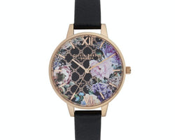 Rose Gold Plated Glasshouse Watch