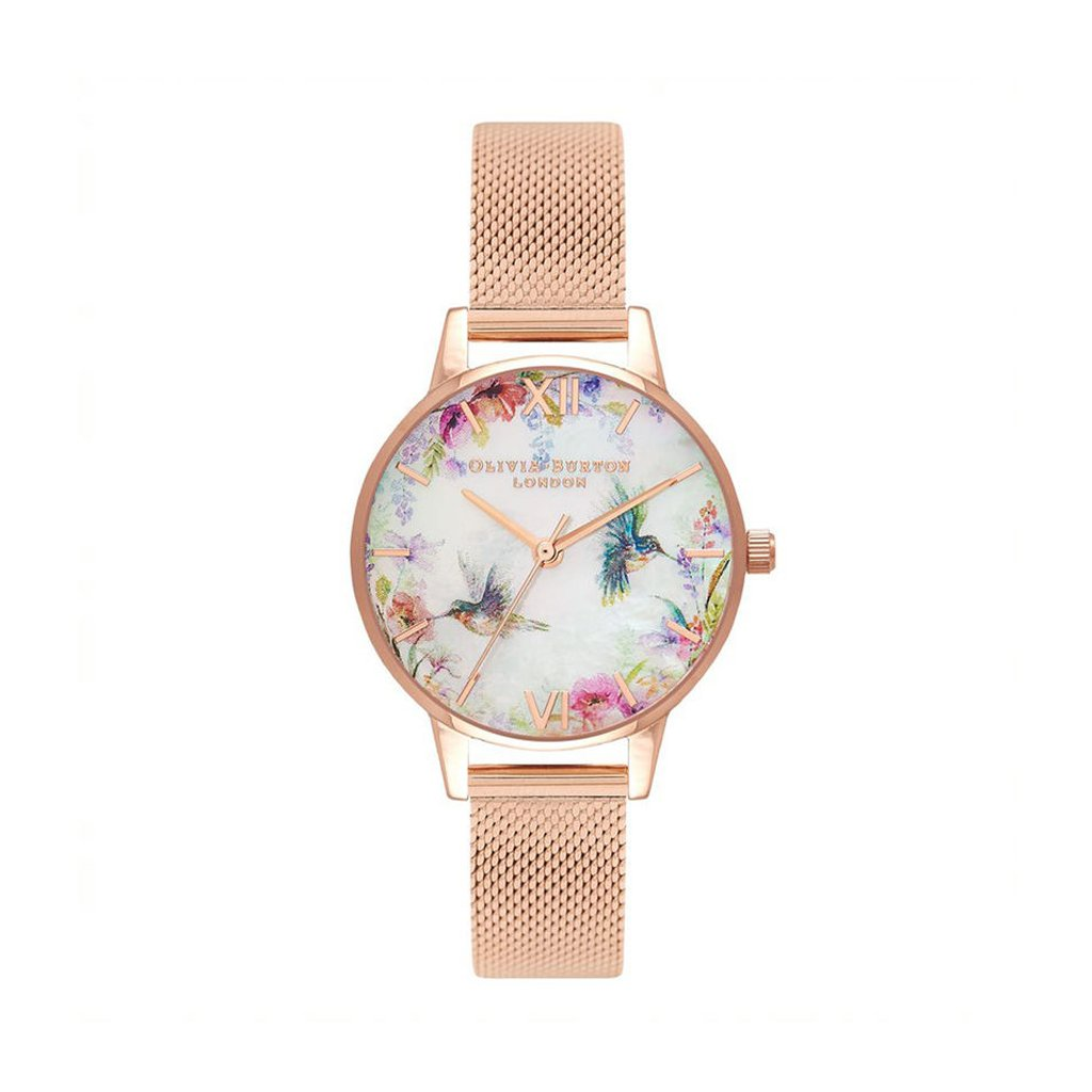 Painterly Prints Dial Rose Gold Plated Watch