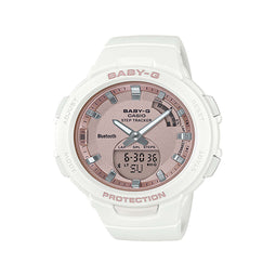 Baby G White/Pink Rose Gold Analogue/Digital