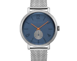 Ted Baker Silver Mesh Blue Dial