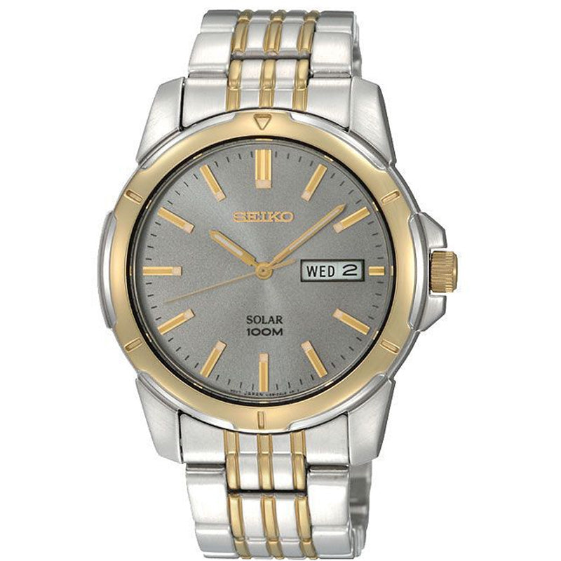 Seiko Mens Solar Two Toned Watch