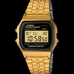 Mens Yellow Gold Plated Digital Watch