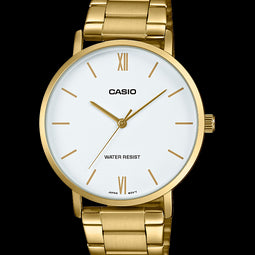 Casio Mens Analogue Golld White Face