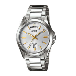 Casio Analogue Date S/Steel Watch