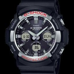 G-Shock Ana Solar Powered 200M W/R Shock Res Solar Ana Black/Silver