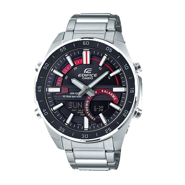 Casio Edifice Black Ion Bezel Watch