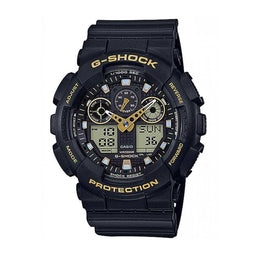 G-Shock Analogue Digital Black And Gold Accents Watch