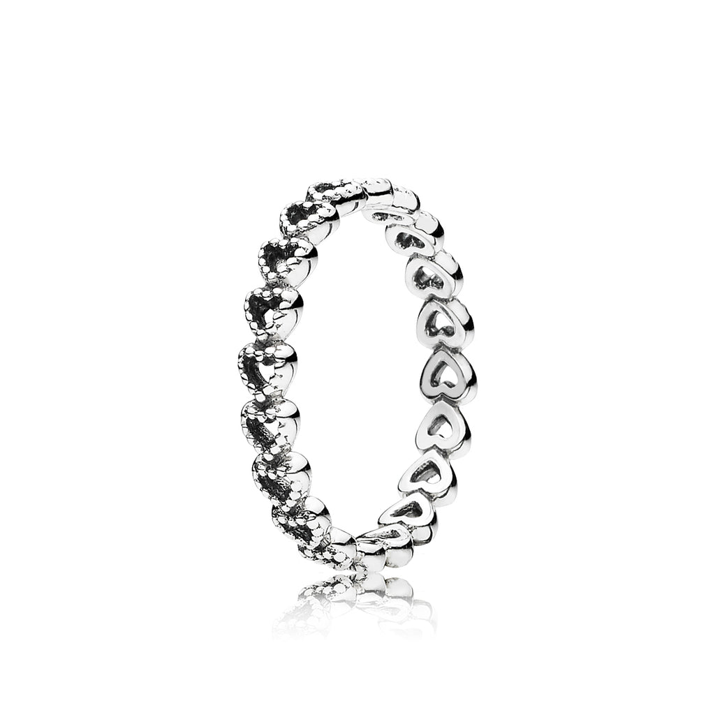 Linked Love Silver Ring