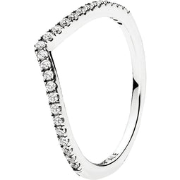 Shimmering Wish Silver Ring With Cz