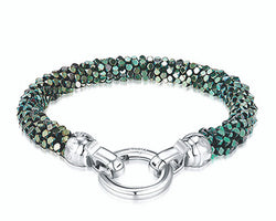Blue Danube Weave Bracelet Medium