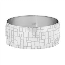 Stainless Steel 28Mm Wide Bangle W/Square Design