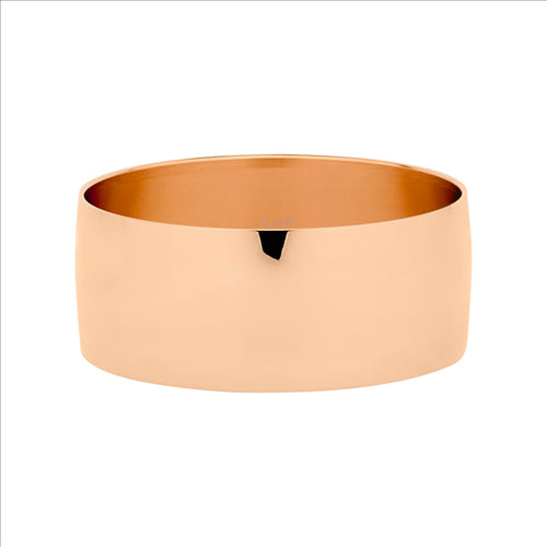 Stainless Steel Rose Gold Ip Plating 28Mm Wide Bangle