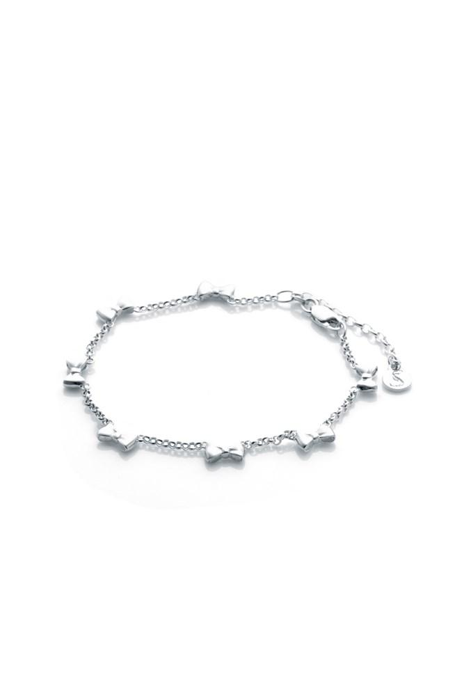 Sterling Silver Baby Bow Bracelet