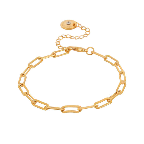 Ripple Chain Gold Colour Ion Plated Bracelet