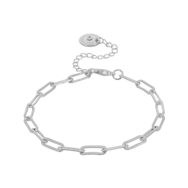 Ripple Chain Silver Colour Ion Plated Bracelet