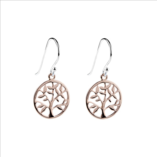 Najo Sterling Silver Rose Gold Plated Springtime Earring