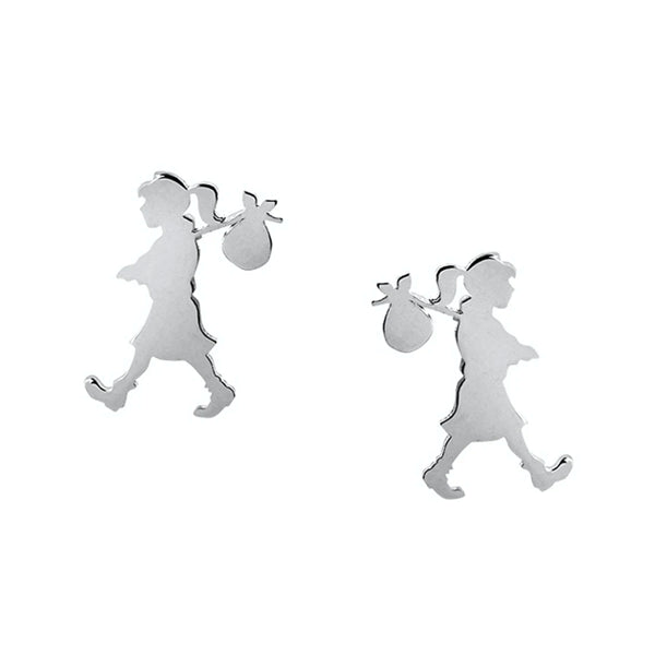 Runaway Girl Studs Mini Sterling Silver