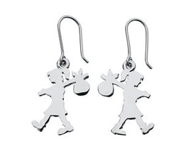 Sterling Silver Runaway Girl Drop Earrings