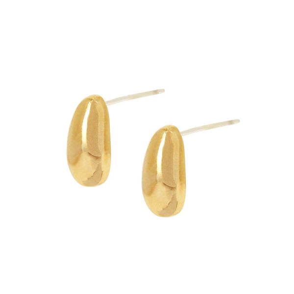 Pebble Gold Ion Plated Earrings