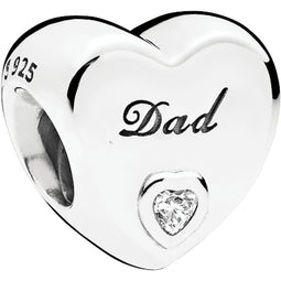 Dad's Love Silver Charm